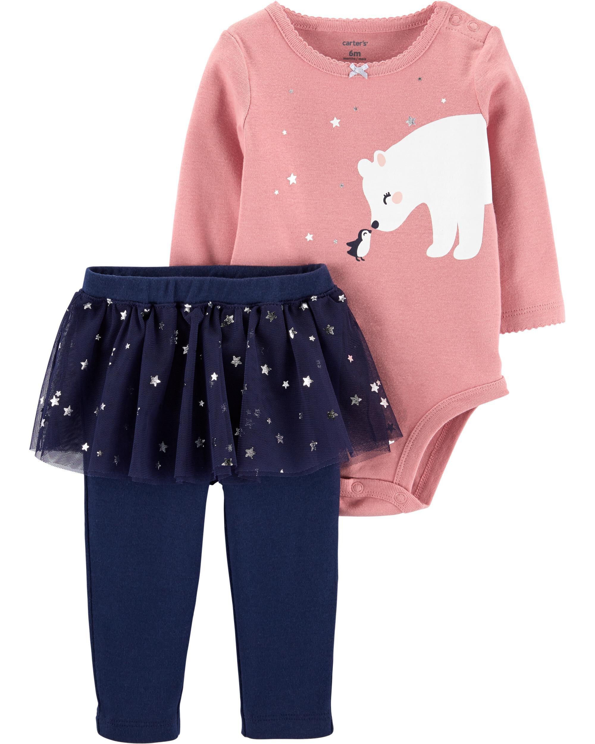 *DOORBUSTER* 2-Piece Polar Bear Bodysuit & Tutu Pant Set