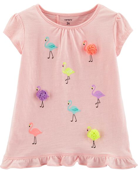 8939fe22 Flamingo Tulip Back Slub Tee | Carters.com