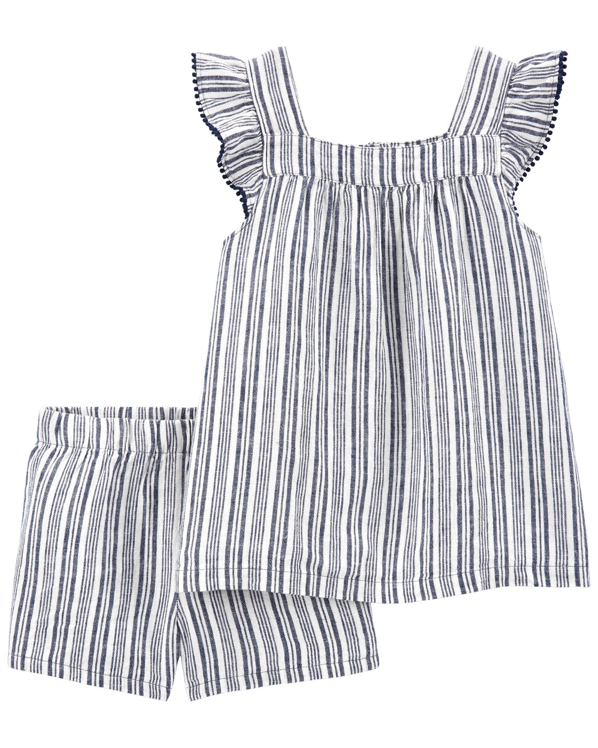 *DOORBUSTER* 2-Piece Striped Tee & Short Set