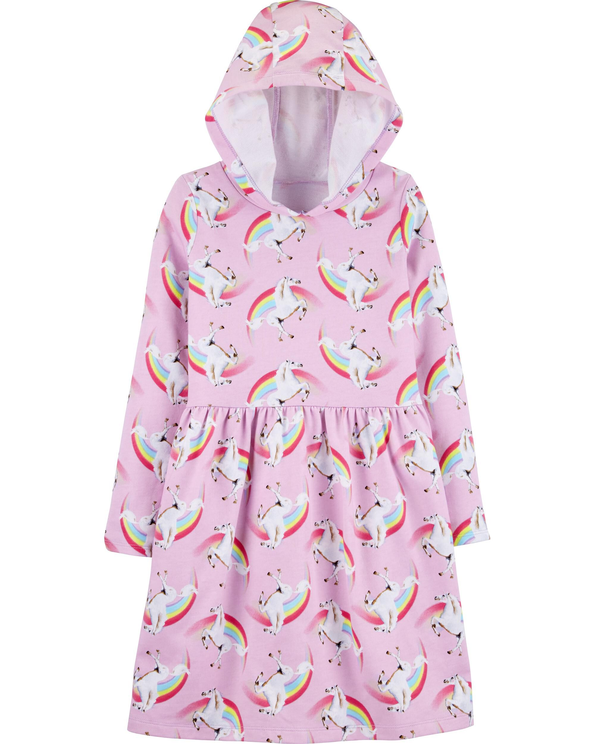 *CLEARANCE* Hooded Unicorn French Terry Dress