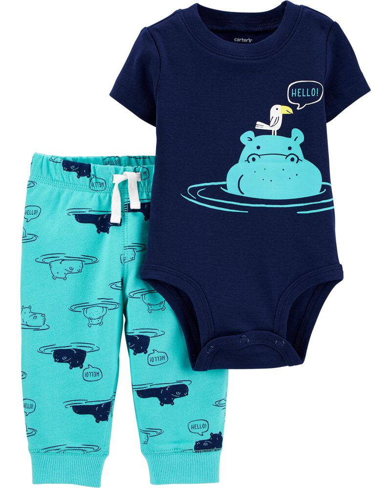 Baby Boy Bodysuit Hippo Baby Clothes Baby Girl Baby Clothes Hippo One-Piece Hippopotamus Baby Shirt