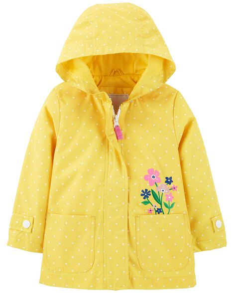 a8e483ed3 Polka Dot Floral Raincoat