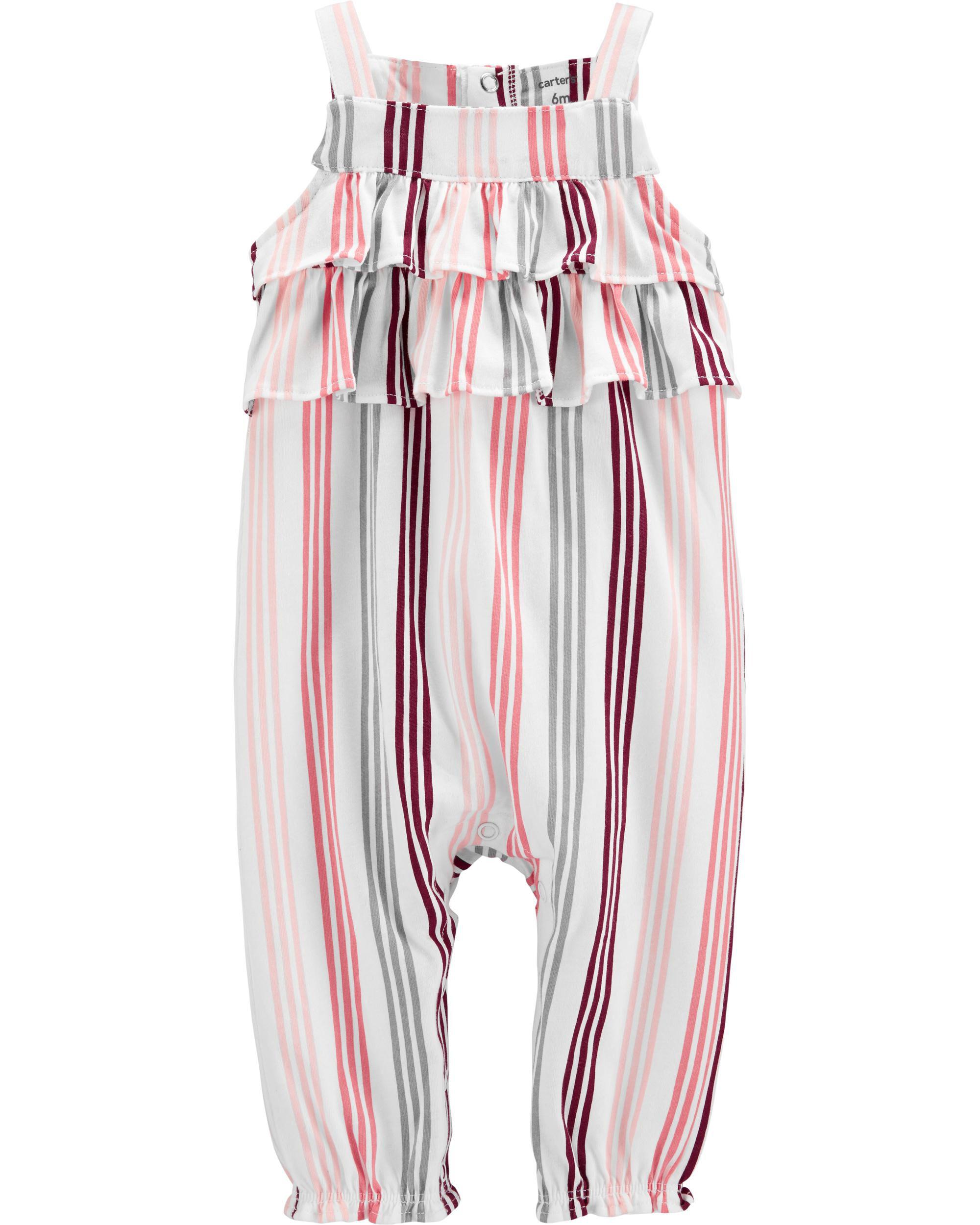 Carters Baby Girl Striped Ruffle Romper