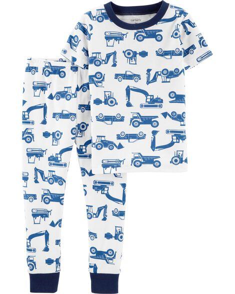 2-Piece Construction Snug Fit Cotton PJs