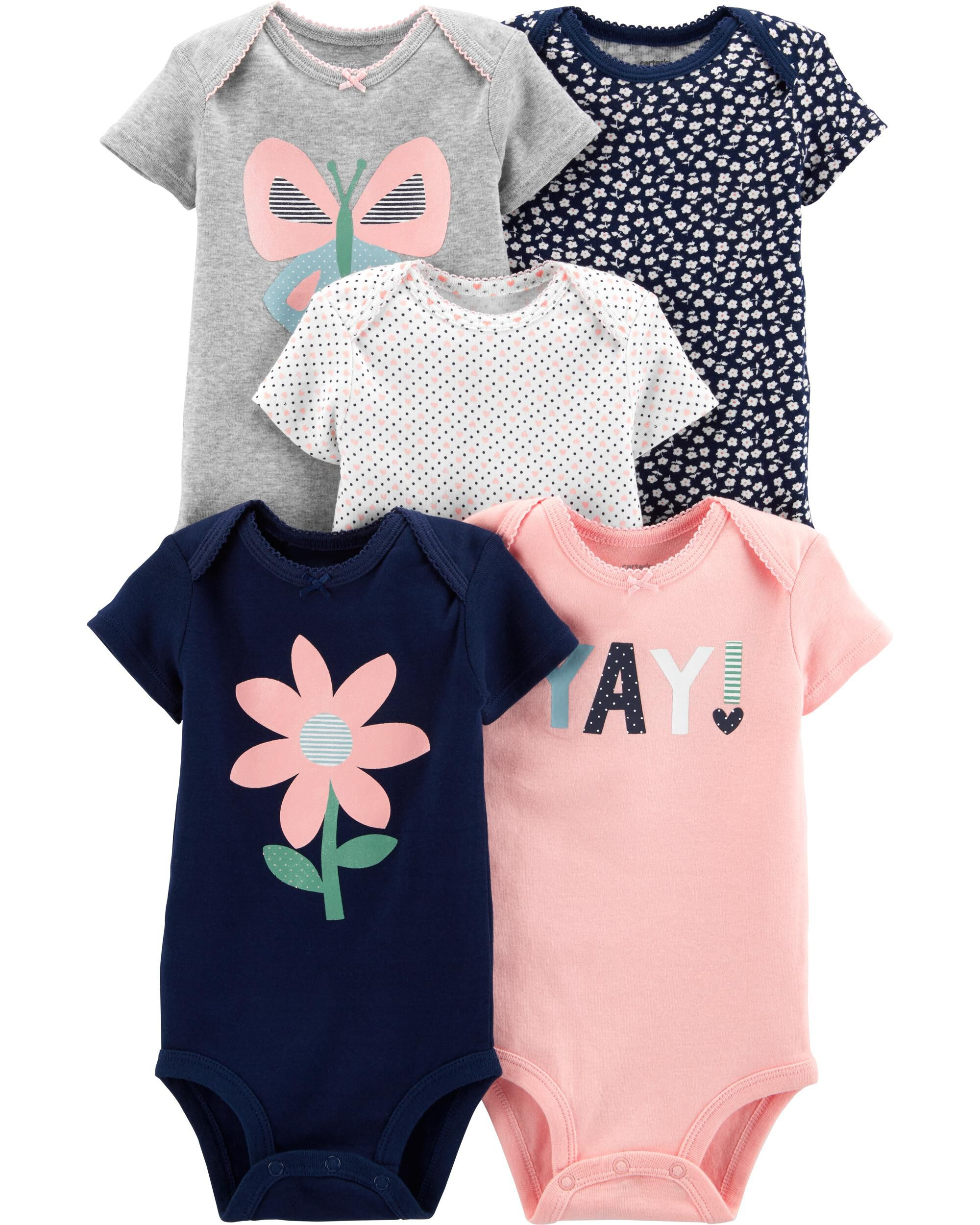 Girls' Clothing (0-24 Months) Hearty Girls All In One Age 0-3 Months 3 Pack Clothes, Shoes & Accessories
