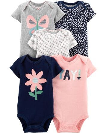 c15d63620e321 Baby Girl Bodysuits | Carter's | Free Shipping