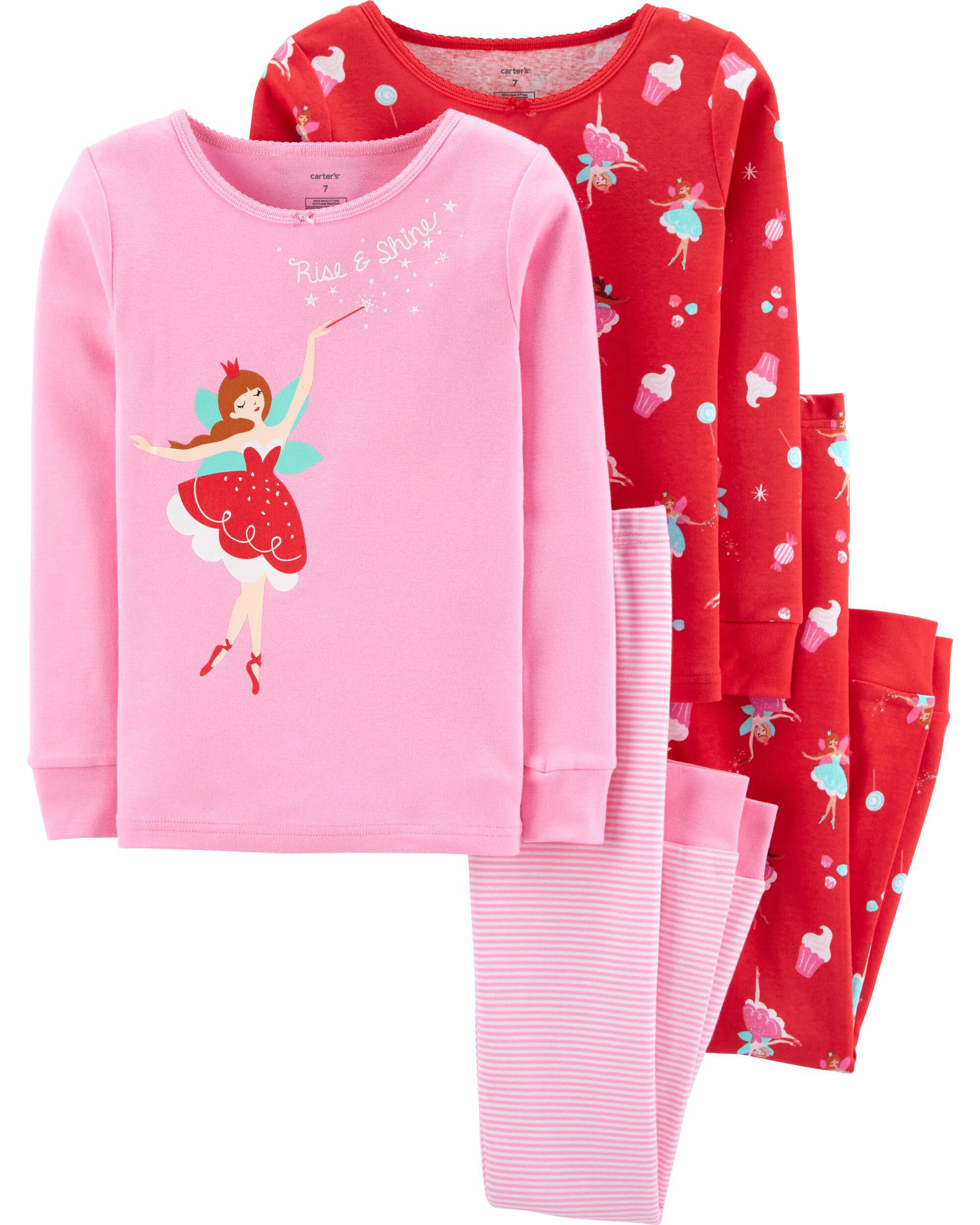 $142 Carter's Toddler Girl Lot Of Five Long Sleeve Tops Sweatshirts Sz 4T MSRP