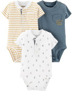 c20c56e86 Baby Boy One-Piece Bodysuits, Multi-Pack Bodysuits | Carter's | Free ...
