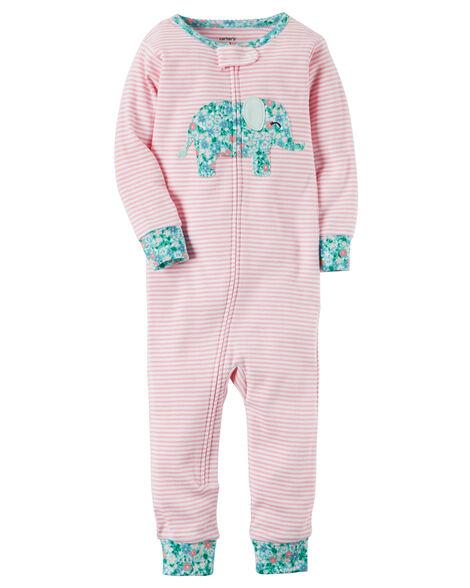 Images. 1-Piece Elephant Snug Fit Cotton Footless PJs 15105f16b