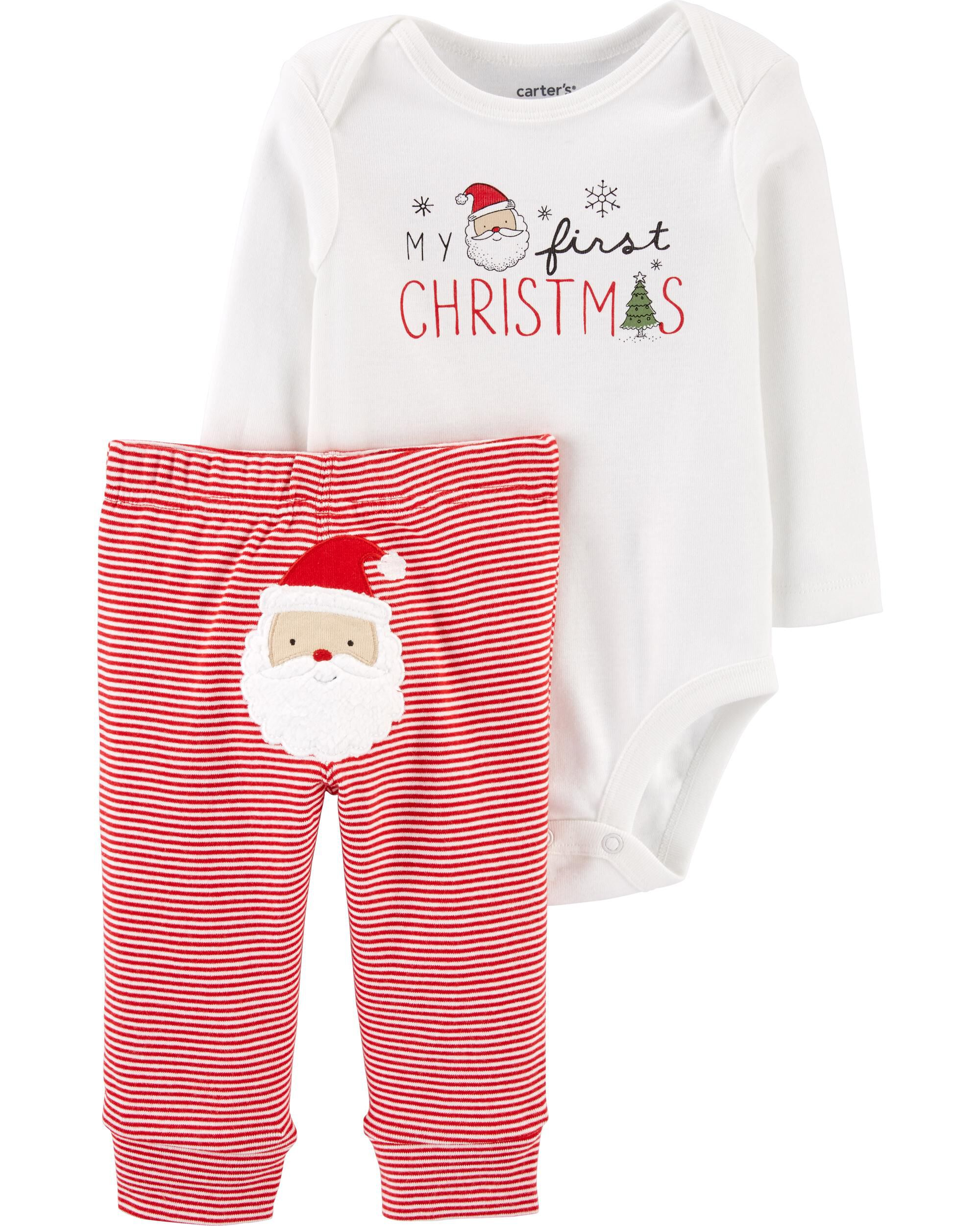 *CLEARANCE* 2-Piece My First Christmas Bodysuit Pant Set