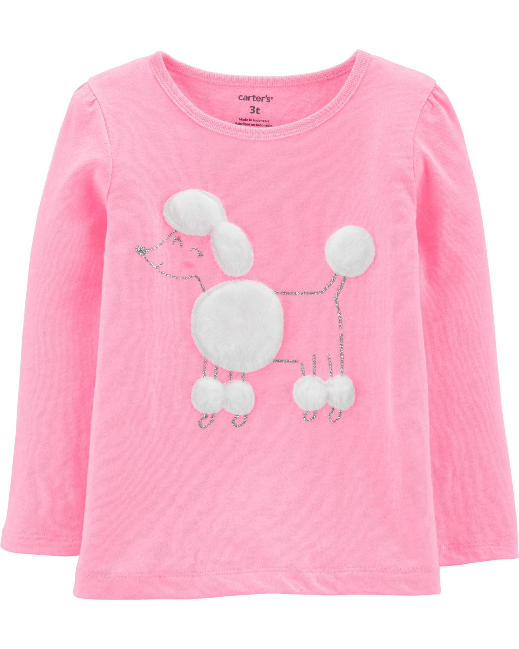 *CLEARANCE* Neon Glitter Poodle Jersey Tee