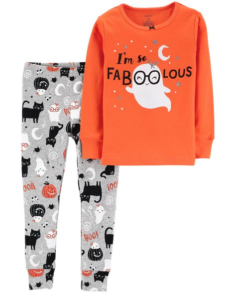 2-Piece Halloween Snug Fit Cotton PJs