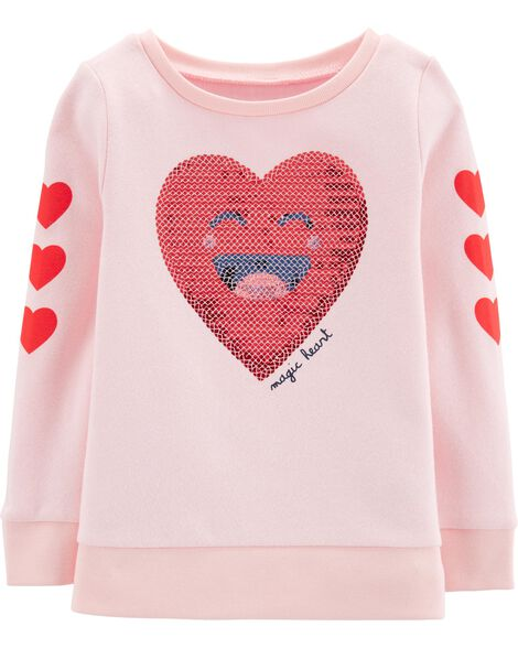 Heart Fleece Sweatshirt