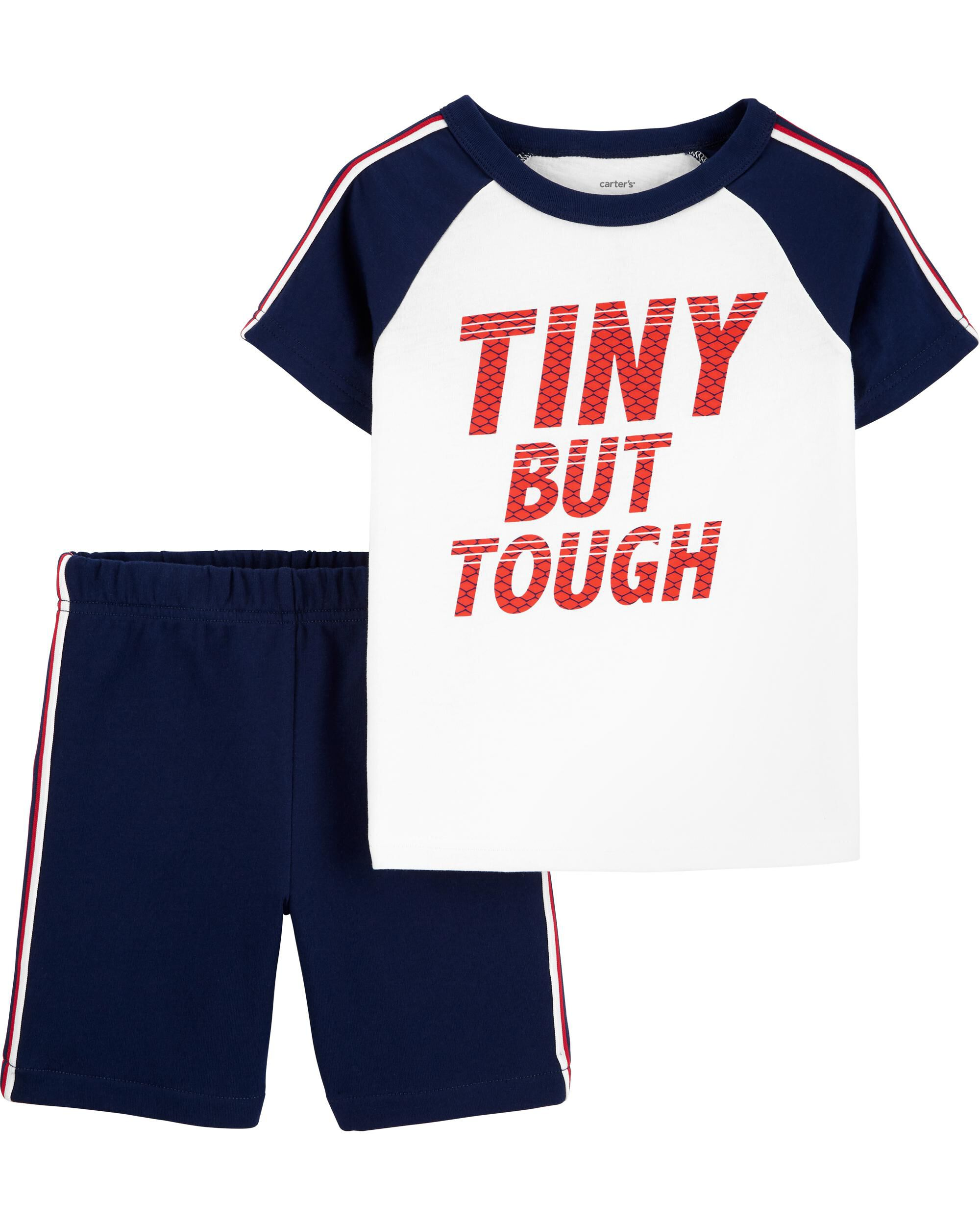 2-Piece Tiny But Tough Raglan Tee & Short Set