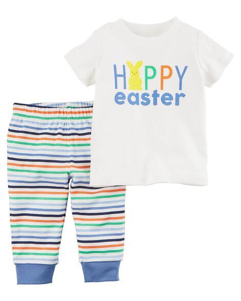 71b9a83bc 2-Piece Easter Top & Pant Set | Carters.com