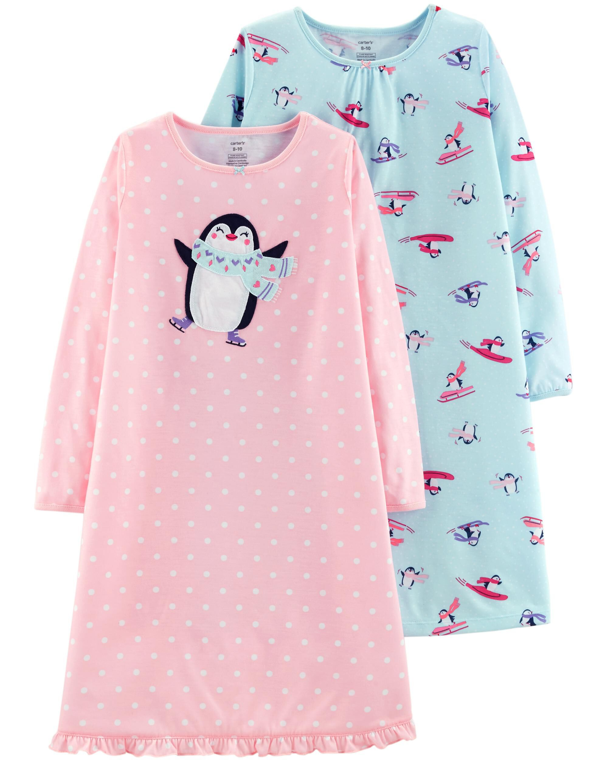 0c9329dbd9 2-Pack Penguin Nightgowns. Loading zoom
