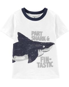 ce8538b14 Carter's Short Sleeve Graphic Tees. Shark Slub Jersey Ringer Tee