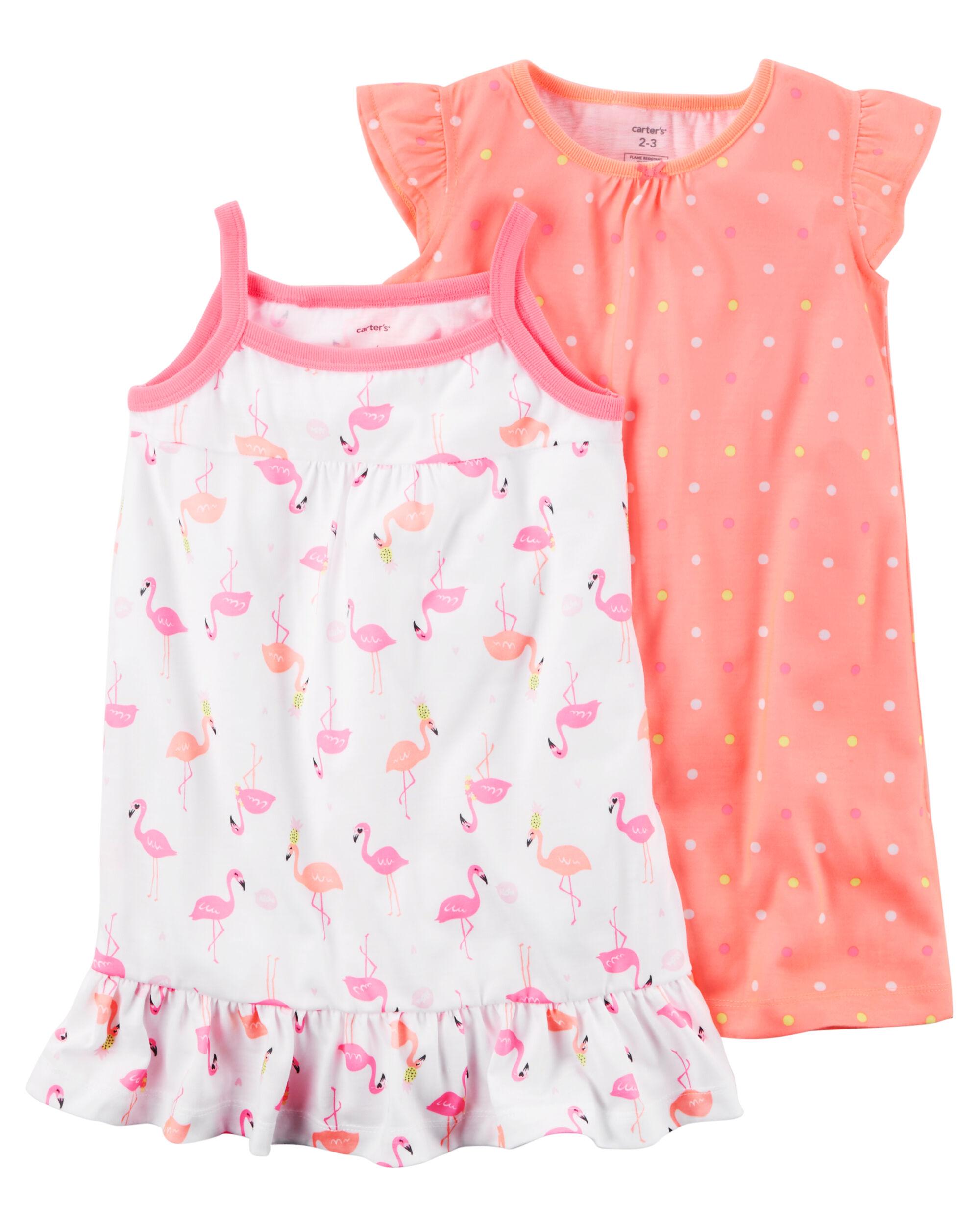 2-Pack Neon Sleep Gowns | Carters.com