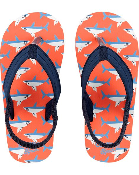 6df42618b958 Kid Boy OshKosh Shark Flip Flops