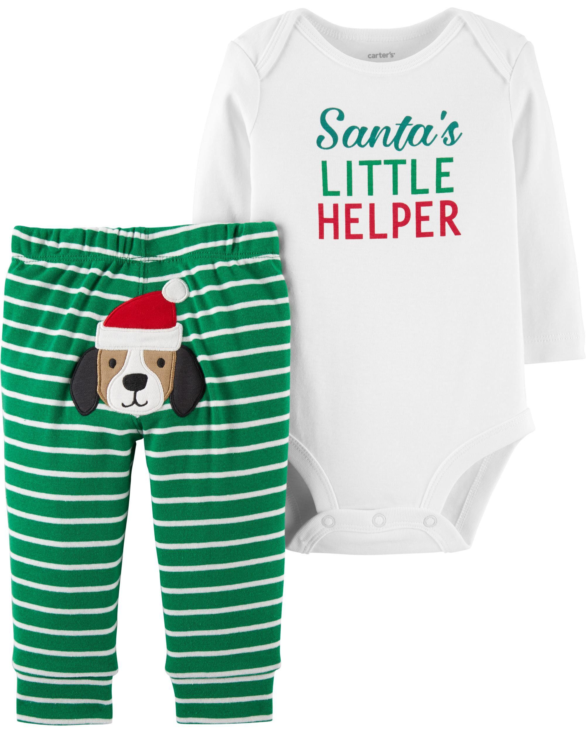 d0d6f17de8b 2-Piece Christmas Bodysuit Pant Set. Loading zoom