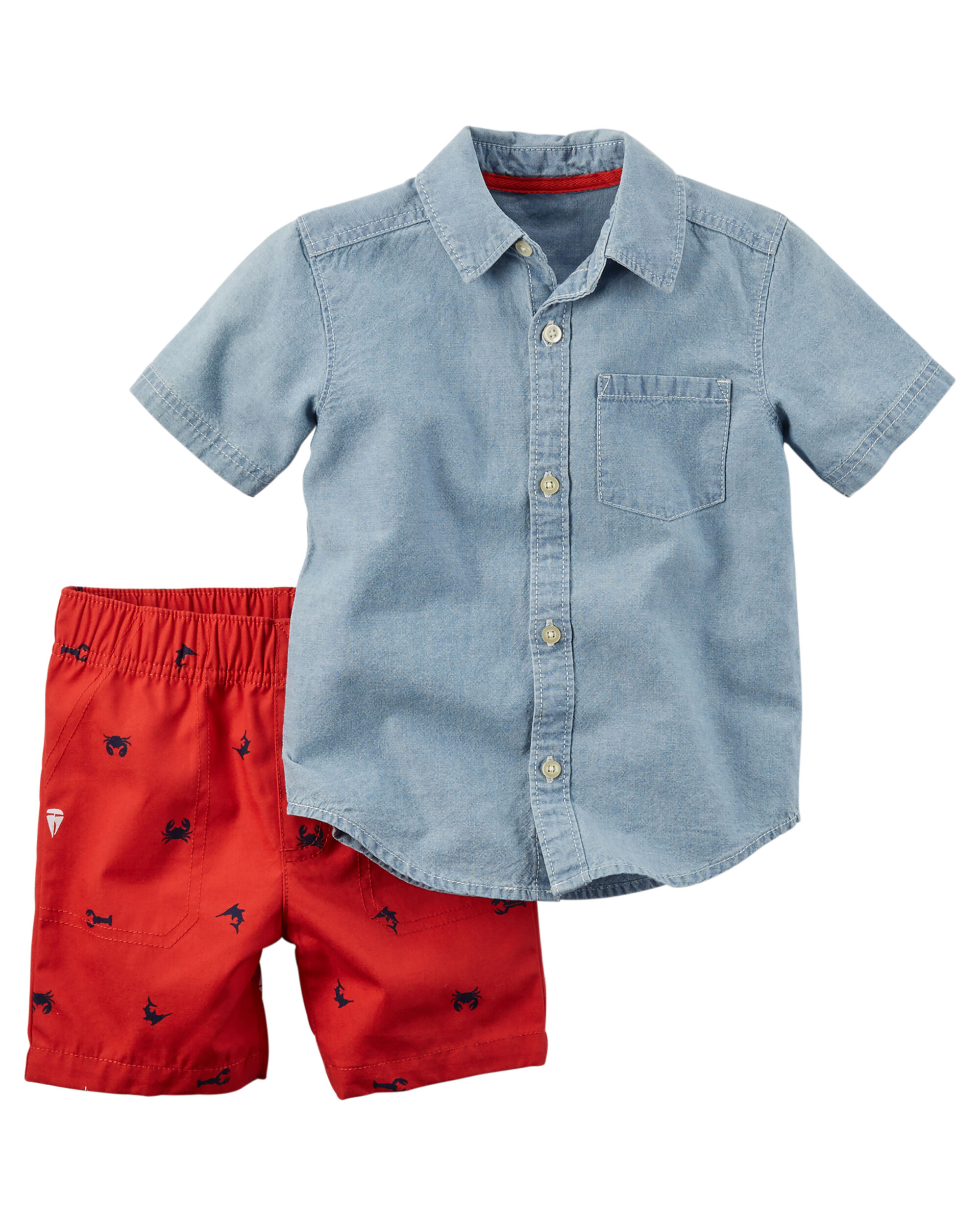 2 Piece Shirt Short Set Carters Com