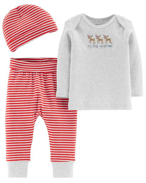 cdf173a6f8df Certified Organic Cotton 3-Piece Christmas Set | Carters.com