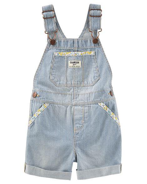 bc40fdf0d00a Toddler Girl Hickory Stripe Overalls - Ozark Blue Wash