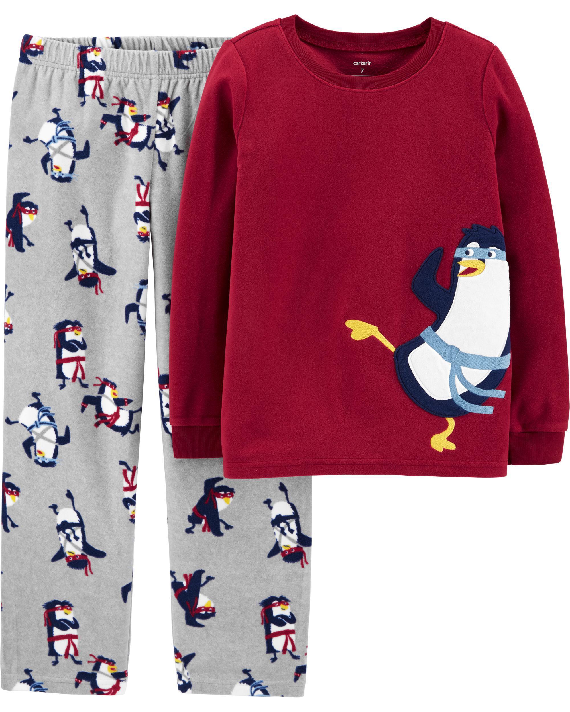 *DOORBUSTER* 2-Piece Ninja Penguin Fleece PJs
