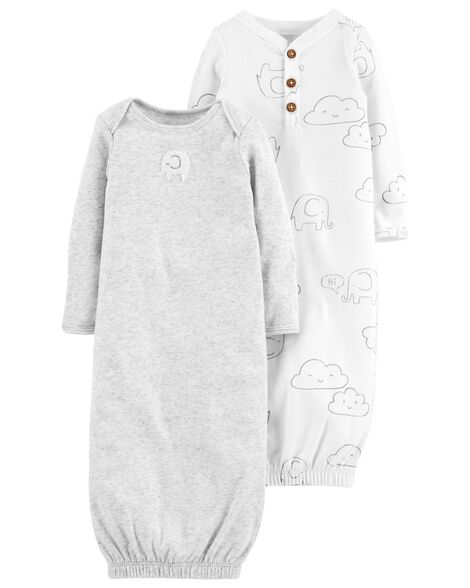 0b281330cceb 2-Pack Babysoft Sleeper Gowns | Carters.com
