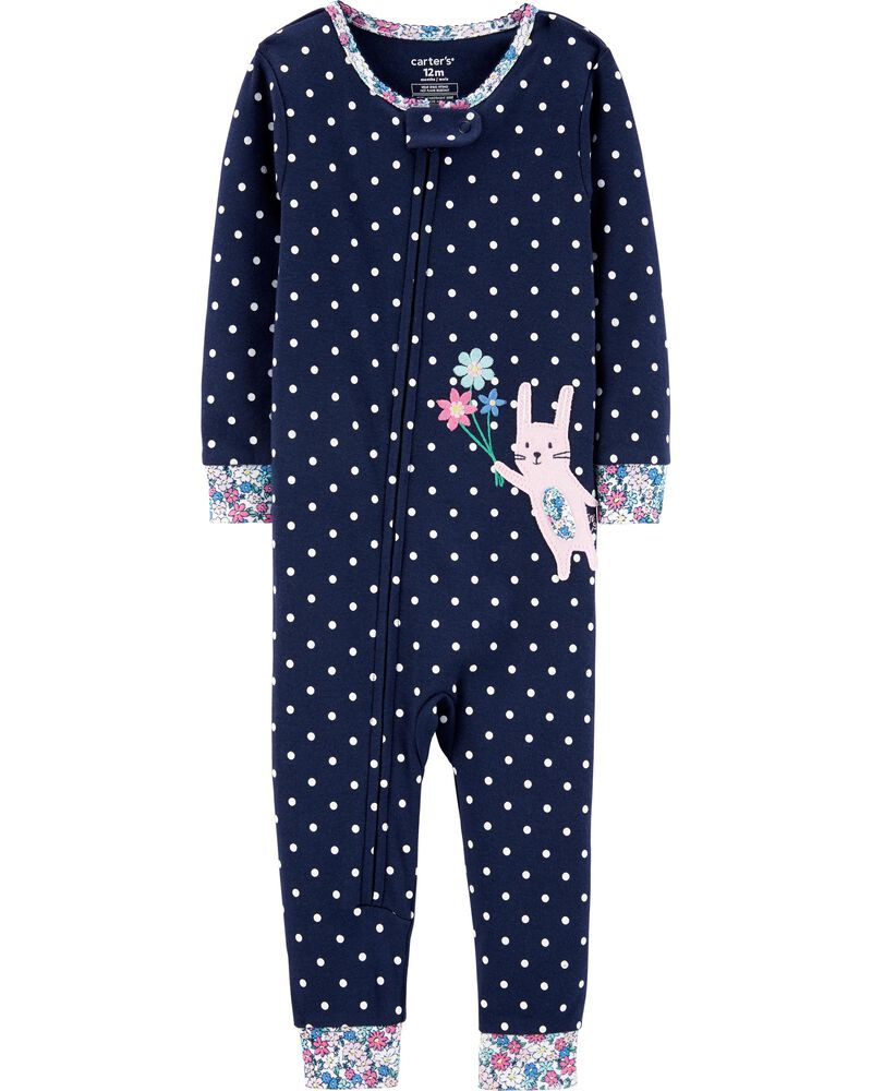 NWT Carter/'s Blue Bunny Footless PJs Sleeper Cotton Easter 1pc many sizes