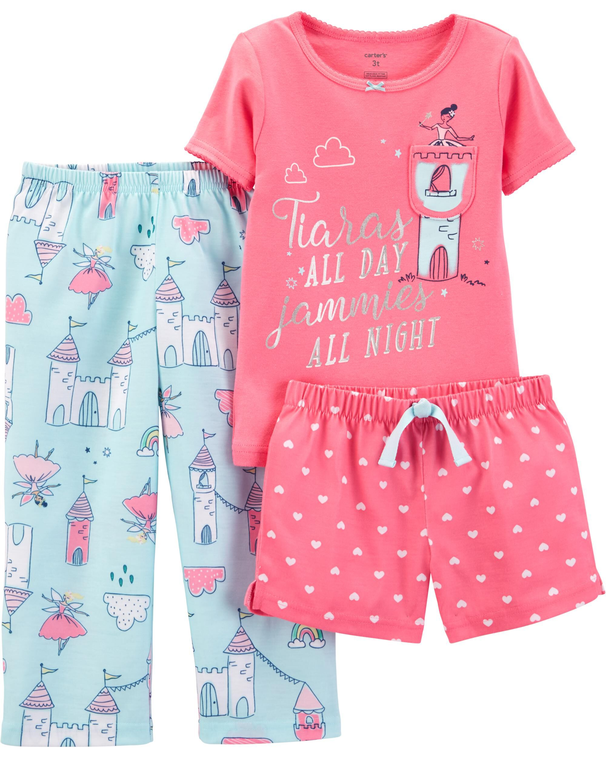 0dd5f8819 3-Piece Princess Poly PJs. Loading zoom