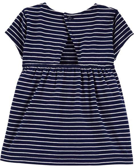 2-Piece Striped Jersey Top & Cherry Capri Legging Set