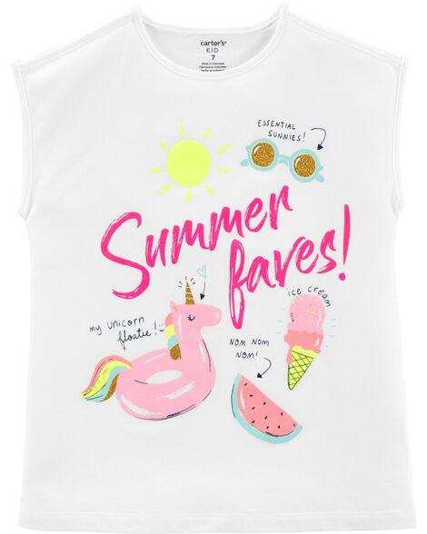 Summer Faves Glitter Jersey Tee