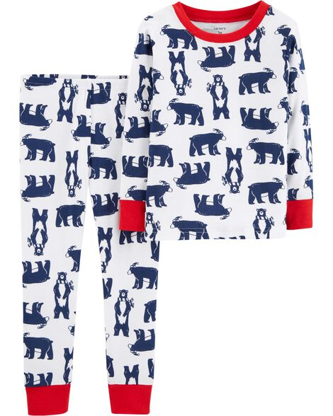 6d8ccb580b64 2-Piece Bear Snug Fit Cotton PJs
