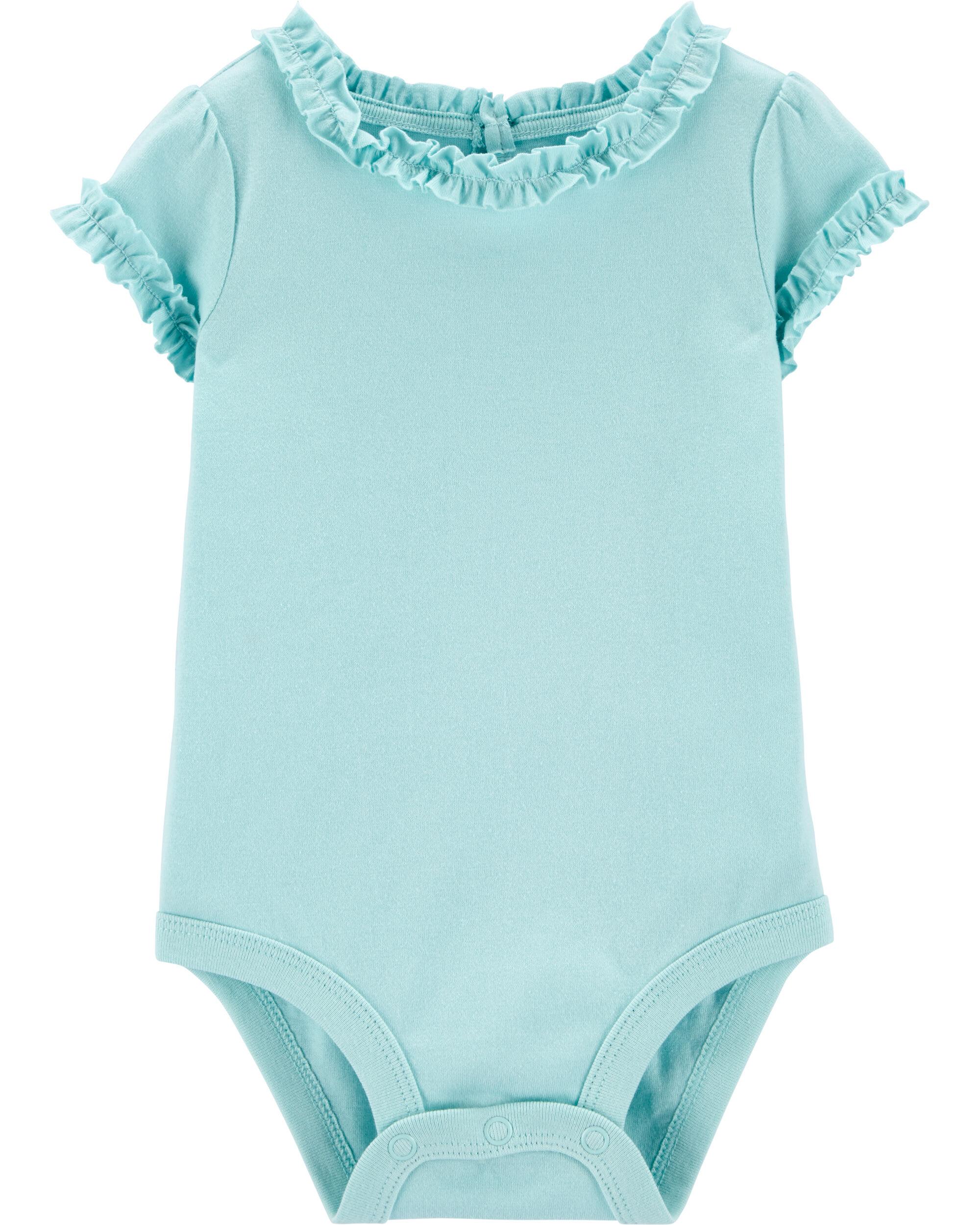 *DOORBUSTER* Turquoise Pocket Jersey Bodysuit