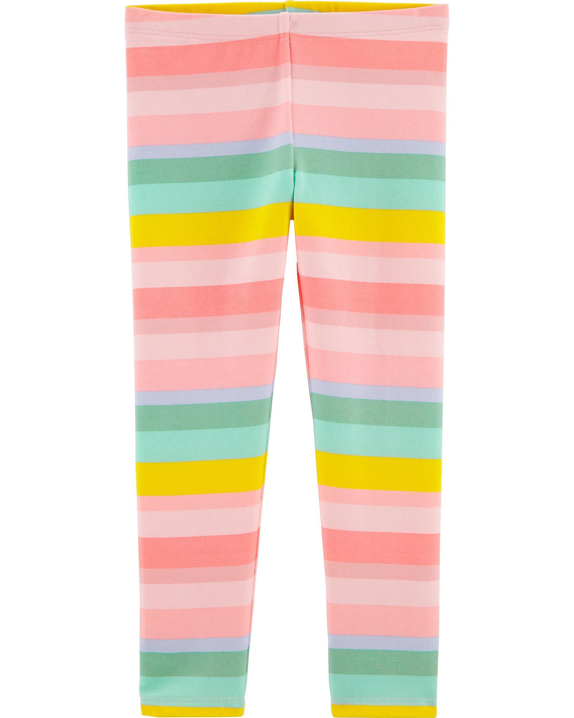 *CLEARANCE* Rainbow Stripe Jersey Leggings
