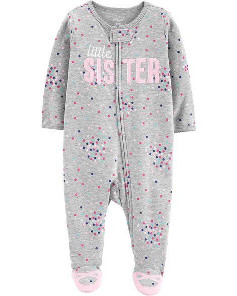 Little Sister Zip-Up Cotton Sleep & Play