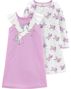 f7cea7a0c28b2 Toddler Nightgowns | Nightgowns for Toddler Girls | Carter's