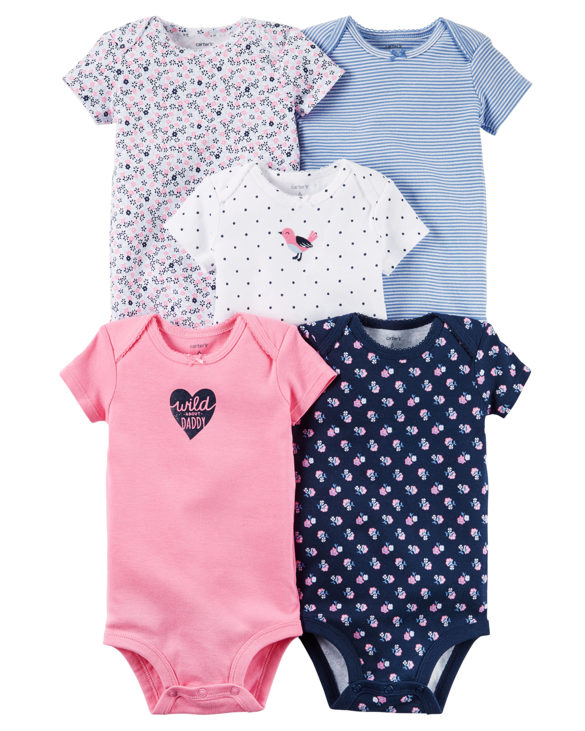 5 Pack Original Bodysuits Carters Com