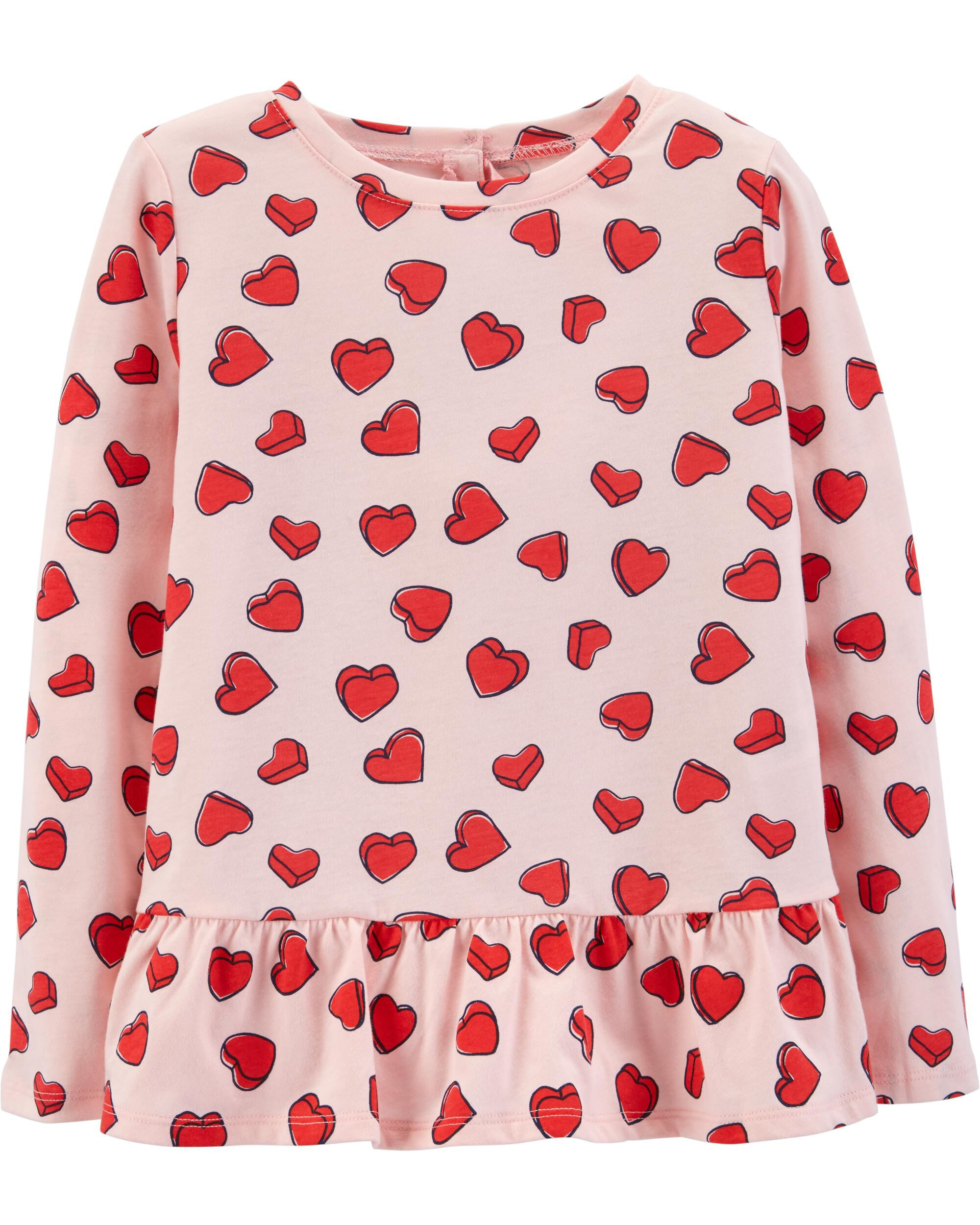 aa6c86cc Heart Peplum Top | Carters.com