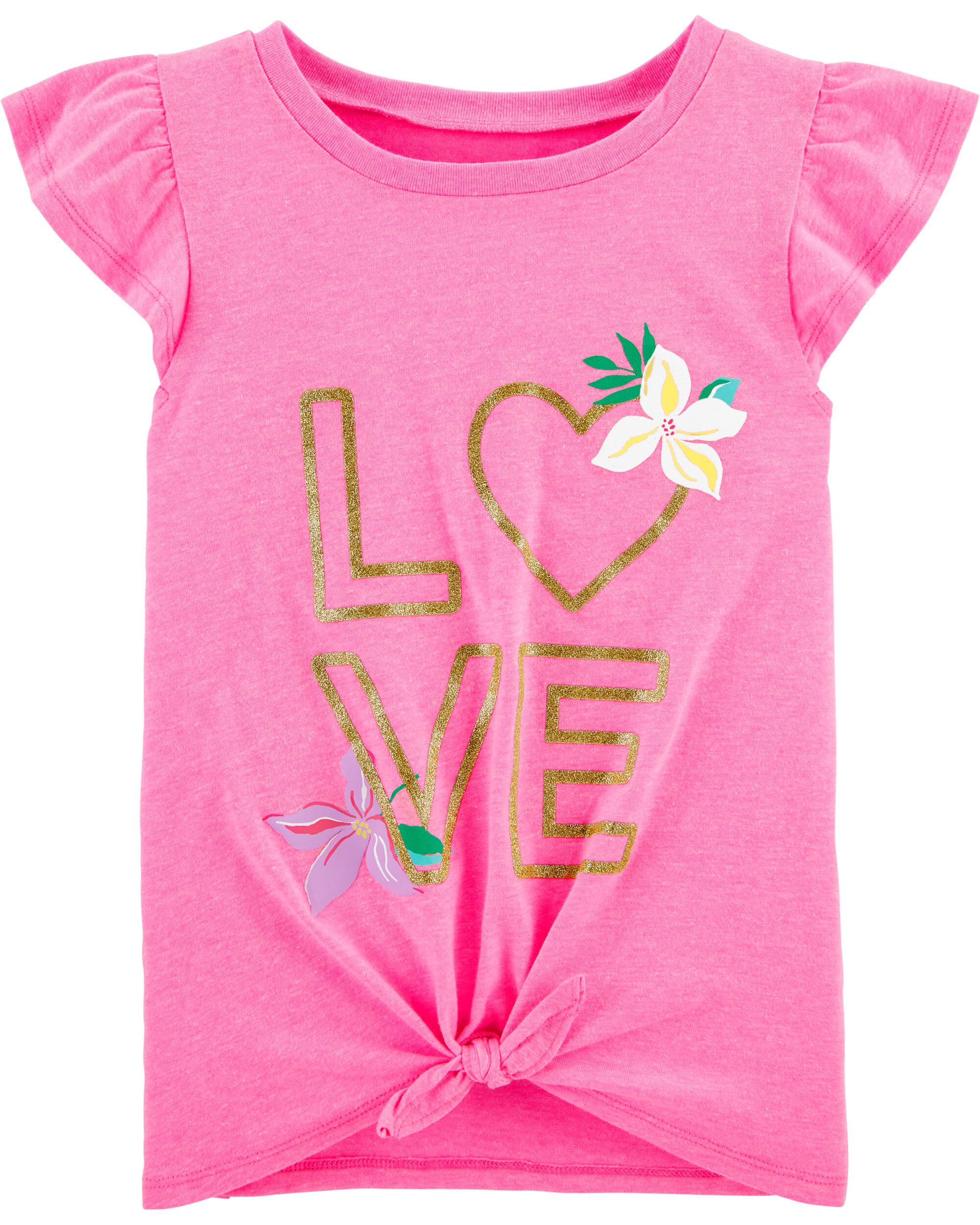 Heart Photography Love Toddler Girls T Shirt Kids Cotton Short Sleeve Ruffle Tee