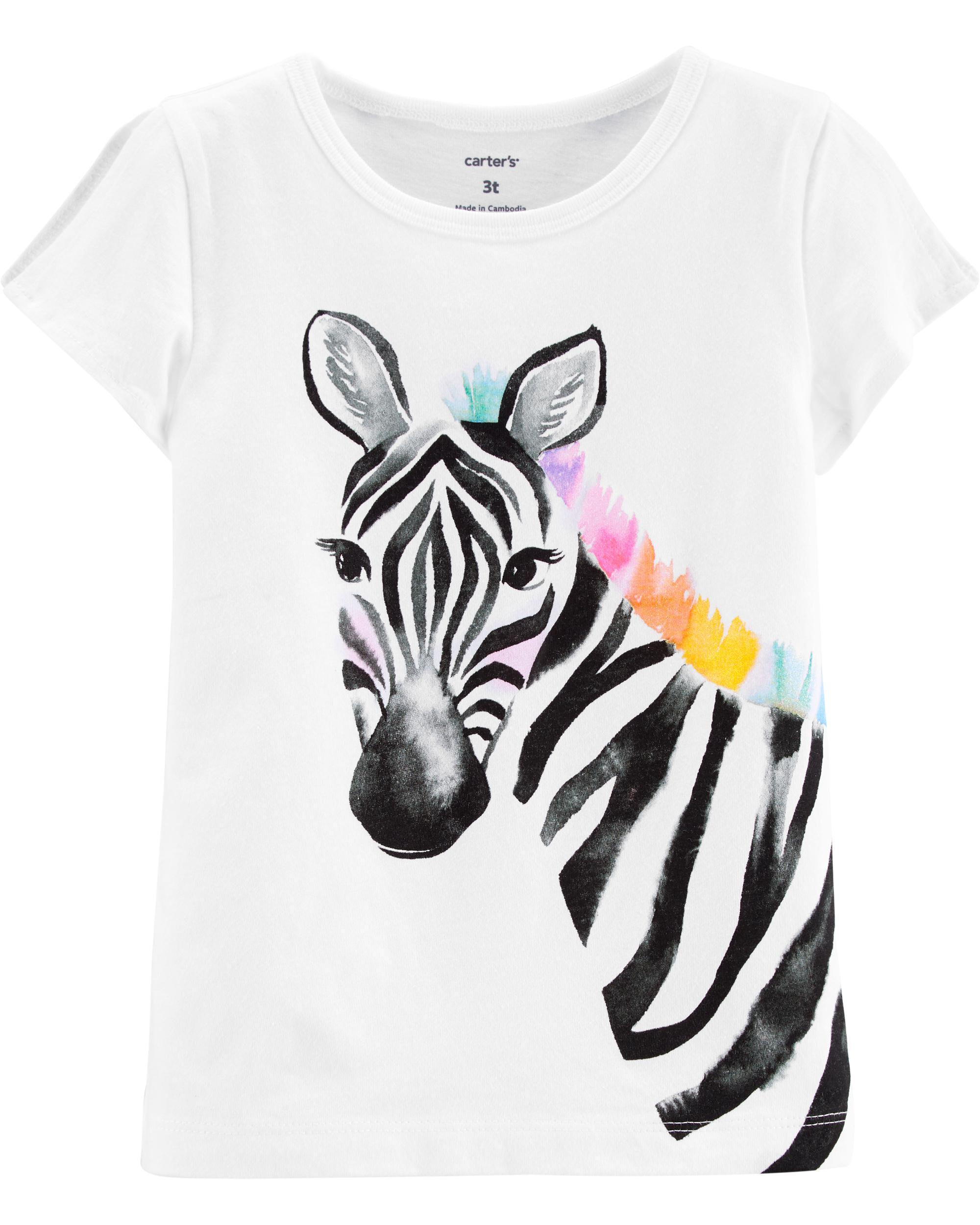 *DOORBUSTER* Zebra Split Shoulder Jersey Tee