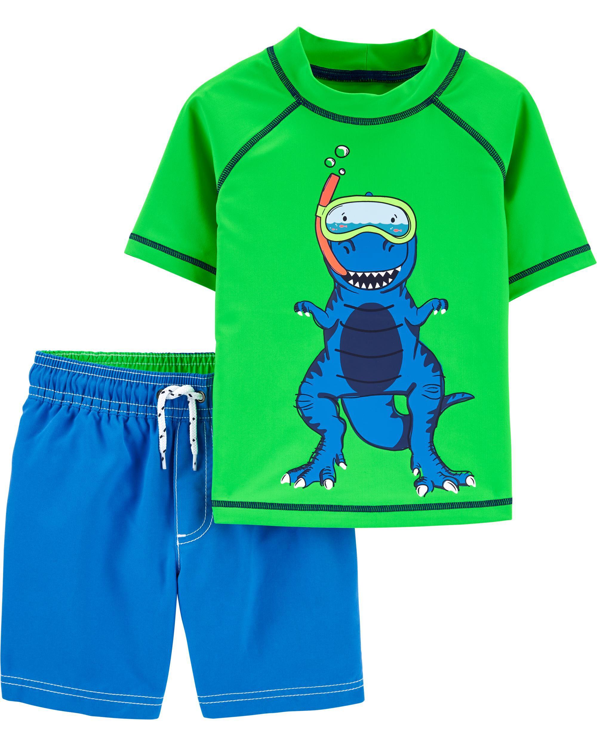 *CLEARANCE* Carter's Color Changing Dinosaur Rashguard Set