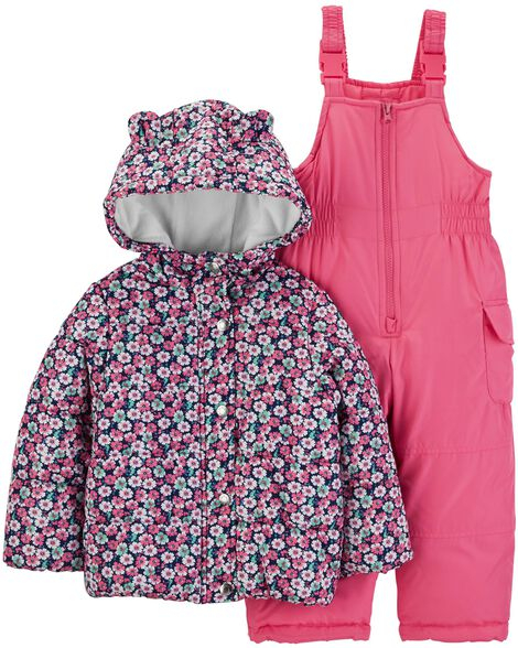 1d8dfa14d 2-Piece Floral Snowsuit Set