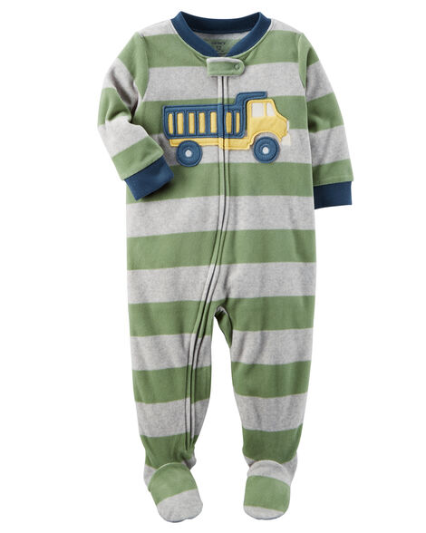 1-Piece Construction Fleece PJs