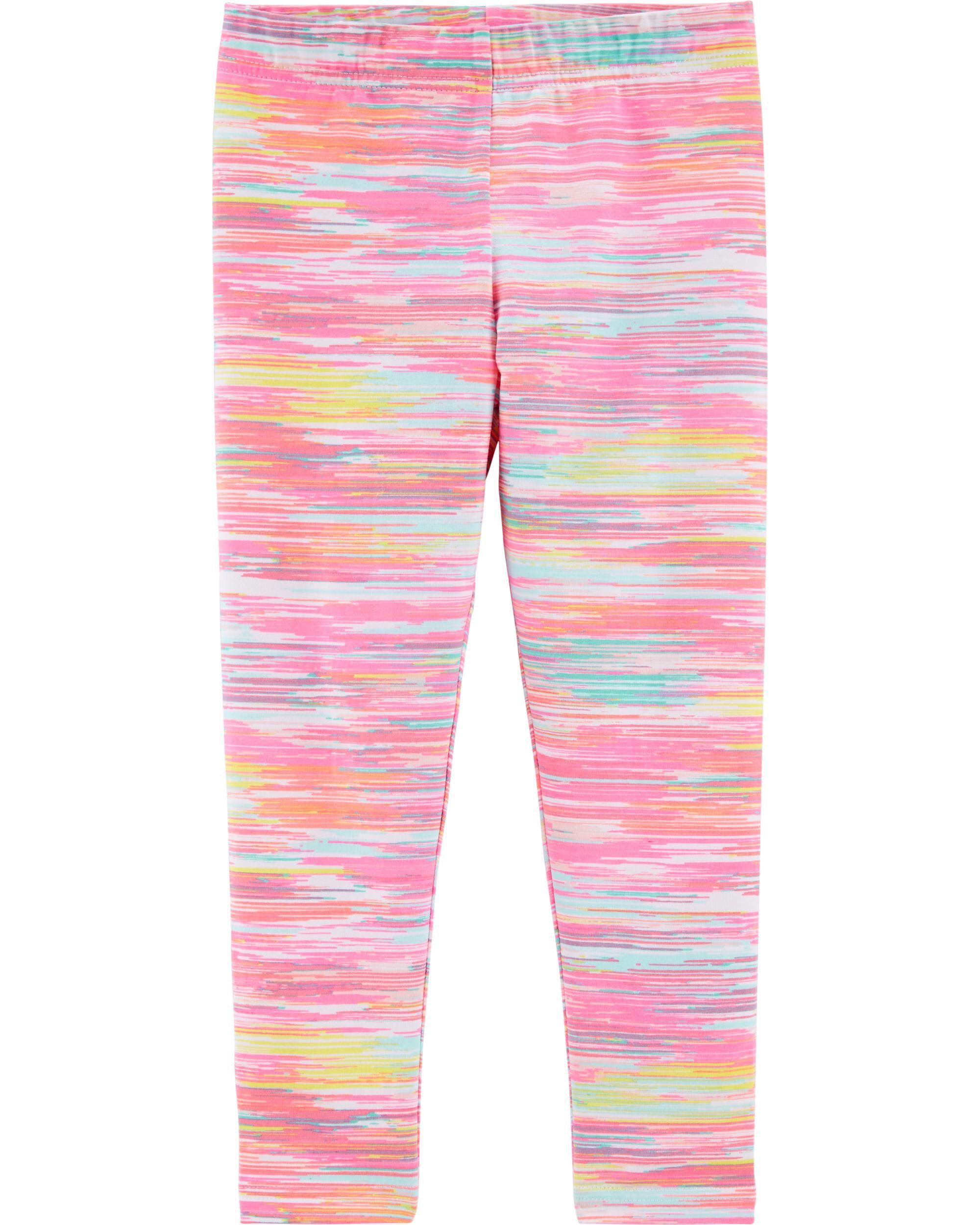 NWT $18-Girls Carters Brown Floral Leggings Elastic Waist Casual Pants-size 4