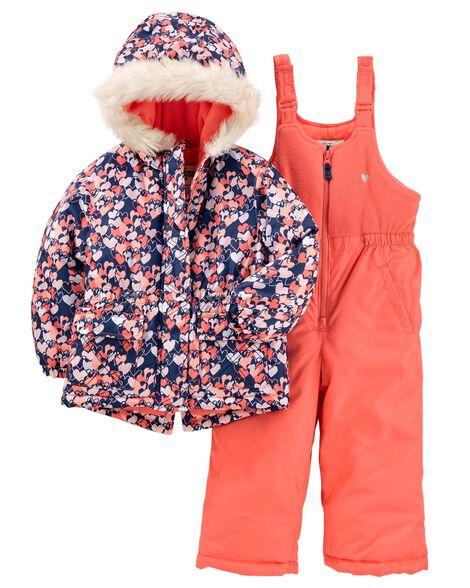 018566fdb Toddler Girl 2-Piece Snowsuit
