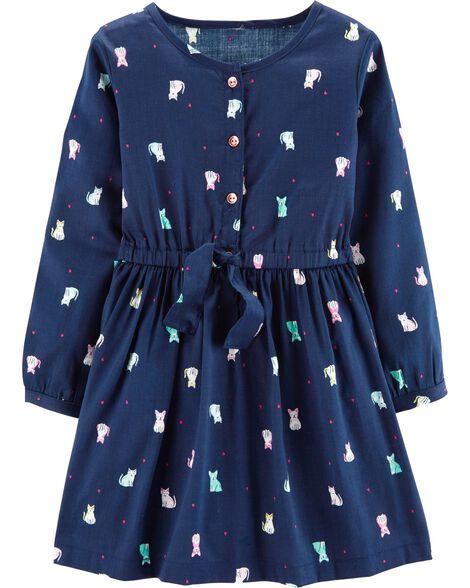 Cat Sateen Dress