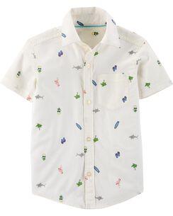 757c709f Summer Graphics Button-Front Shirt