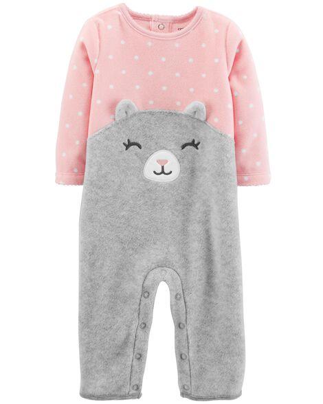 Cat Fleece Jumpsuit